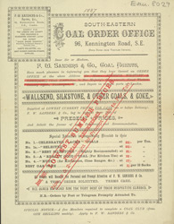 Advert for the South Eastern Coal Order Office